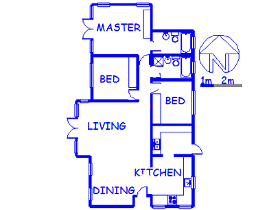 Floor plan of the property in Willaway A.H.