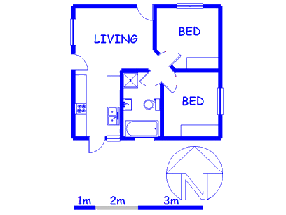 Floor plan of the property in Brackenfell