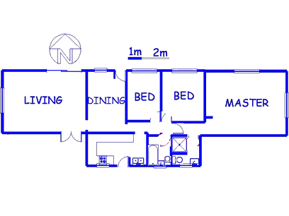 Floor plan of the property in Jan Niemand Park