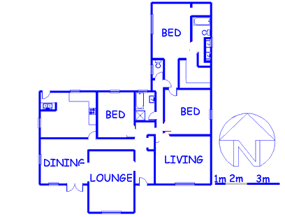 Floor plan of the property in Highlands North