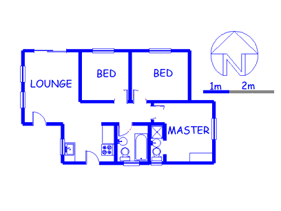 Floor plan of the property in Kya Sand