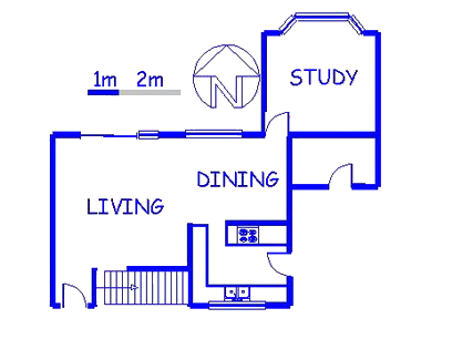 Floor plan of the property in Waterkloof