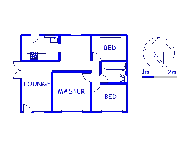 Floor plan of the property in Avoca Hills