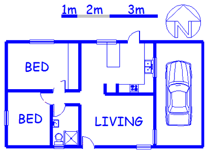 Floor plan of the property in West Riding - CPT
