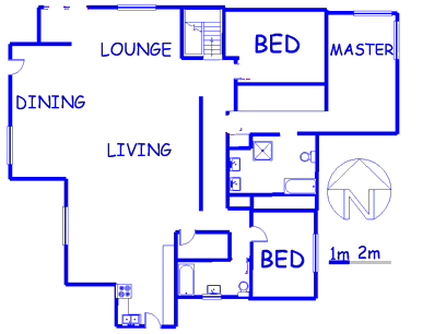 Floor plan of the property in Muckleneuk