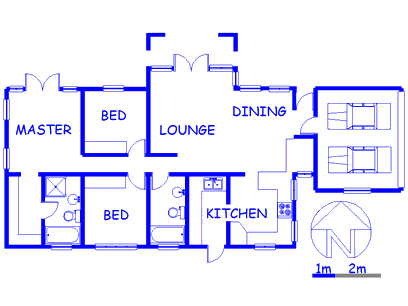 Floor plan of the property in Kyalami Estates