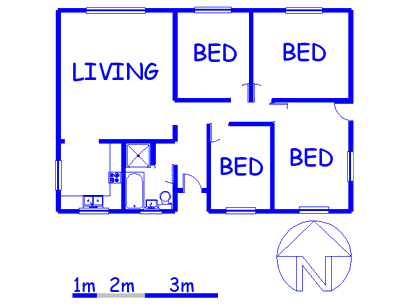 Floor plan of the property in Southfield