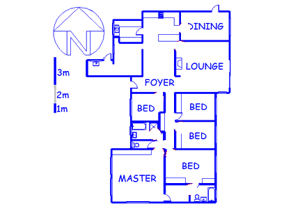 Floor plan of the property in Parow North