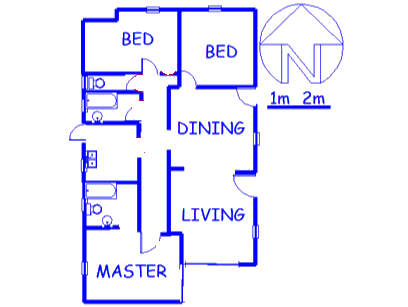 Floor plan of the property in Birch Acres