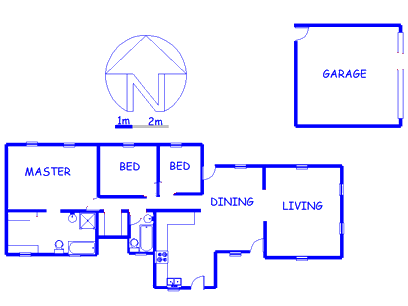 Floor plan of the property in Benoni