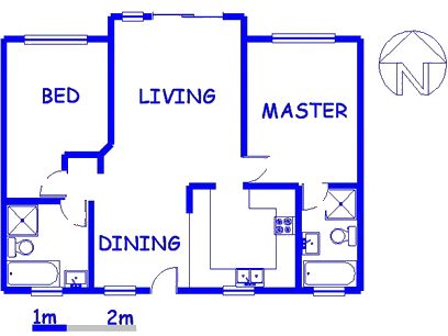 Floor plan of the property in Monavoni