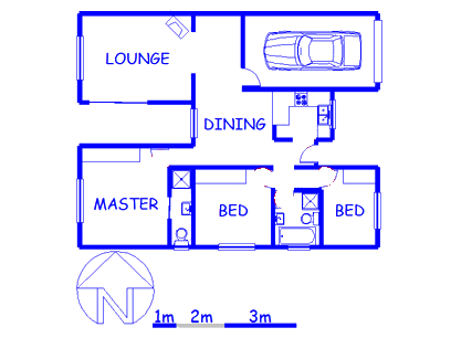 Floor plan of the property in Protea Village