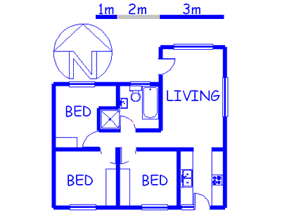 Floor plan of the property in Thornton