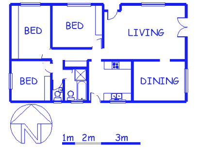 Floor plan of the property in Glenlily
