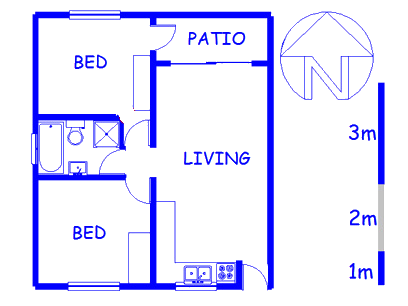 Floor plan of the property in Aston Bay