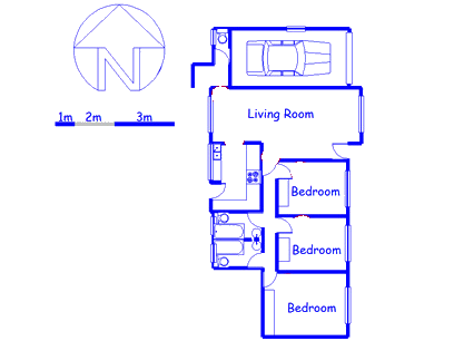 Floor plan of the property in Waterfall