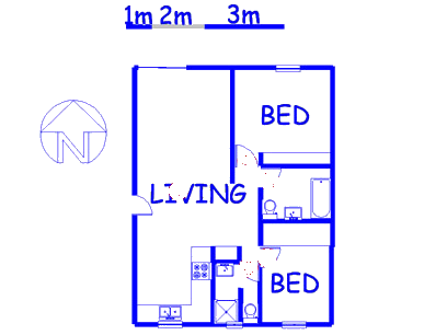 Floor plan of the property in Clubview