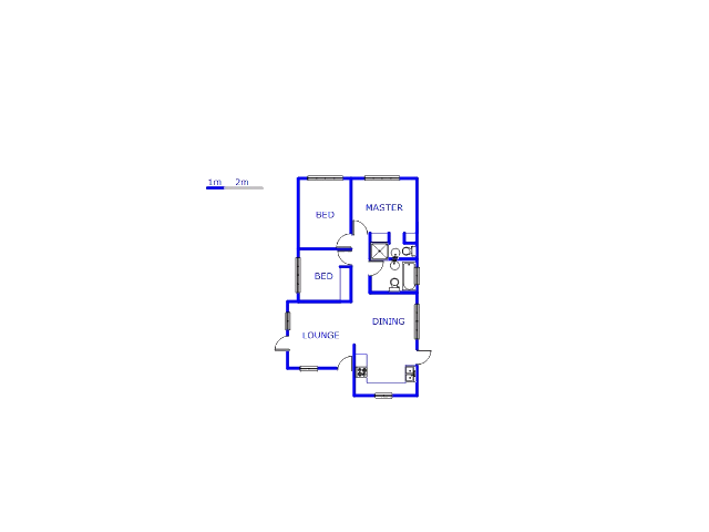Floor plan of the property in Olievenhoutbos