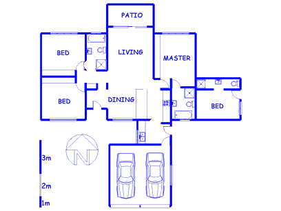 Floor plan of the property in Willow Glen