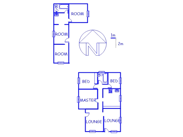 Floor plan of the property in Delville