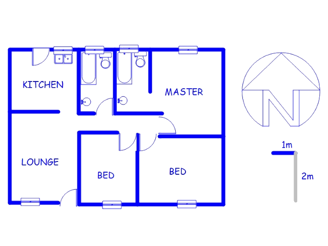 Floor plan of the property in Lawley