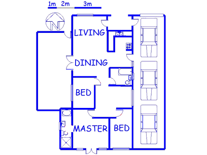 Floor plan of the property in Woodlands - CPT