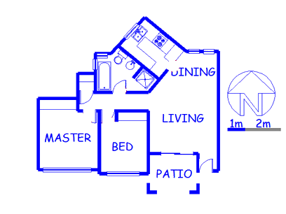 Floor plan of the property in Little Falls
