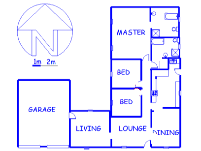 Floor plan of the property in Sabie