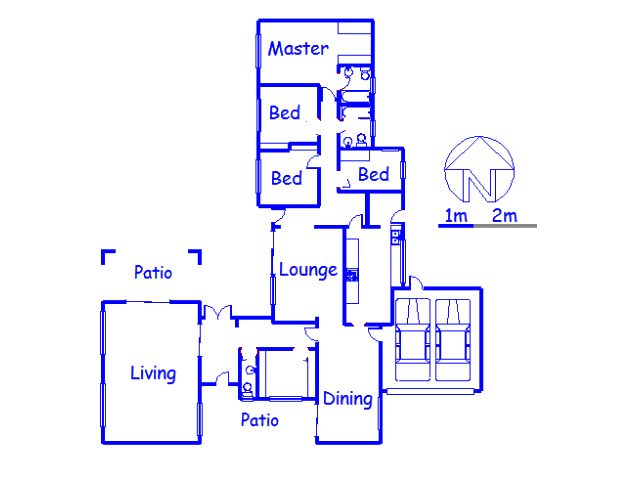 Floor plan of the property in Lombardy East