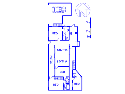 Floor plan of the property in Kalk Bay