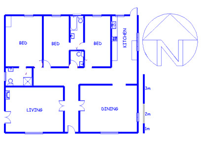 Floor plan of the property in Bot River