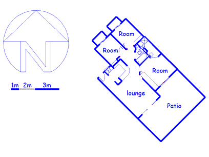 Floor plan of the property in Tinley Manor