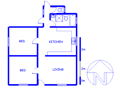 Floor plan of the property in Uitenhage