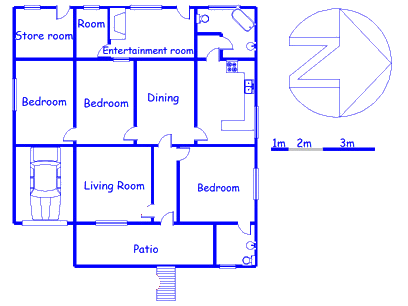 Floor plan of the property in Wolseley