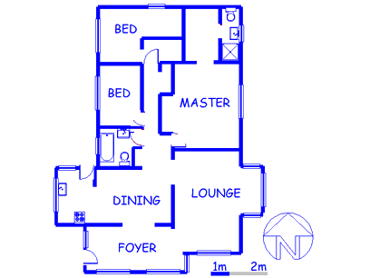 Floor plan of the property in Eloffsdal