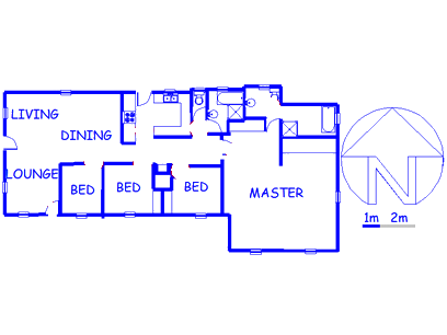 Floor plan of the property in Gillview