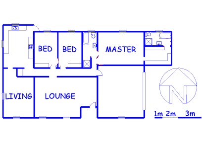 Floor plan of the property in Bethal