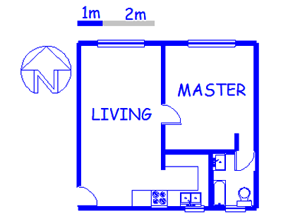 Floor plan of the property in Daspoort