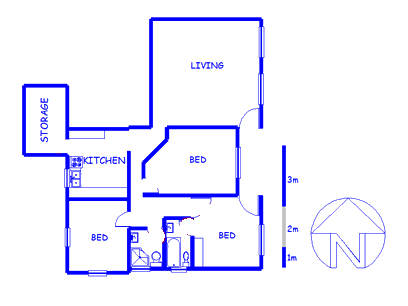Floor plan of the property in Tamboerskloof