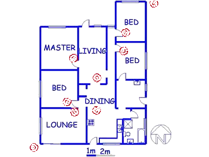 Floor plan of the property in Claremont