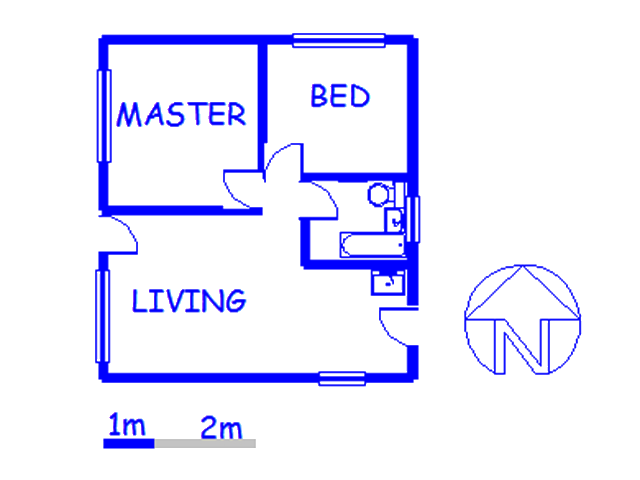 Floor plan of the property in Brits