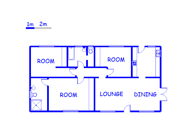 Floor plan of the property in Illovo Glen
