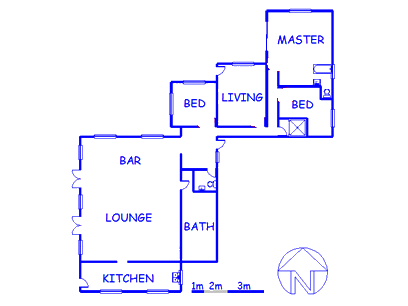 Floor plan of the property in Azalea