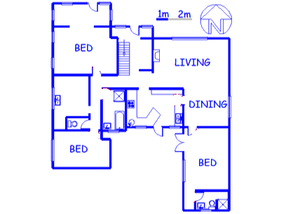 Floor plan of the property in Fairmount