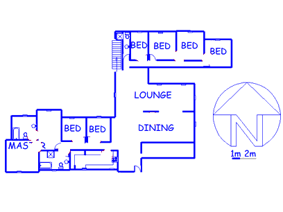 Floor plan of the property in Oriel