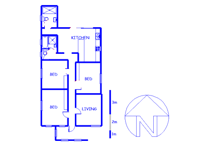 Floor plan of the property in Observatory - CPT