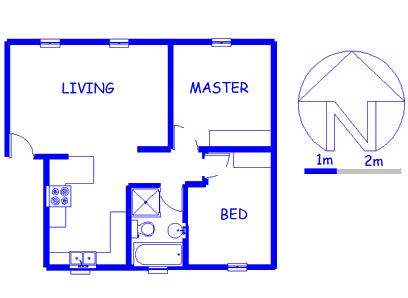 Floor plan of the property in Ferndale - JHB
