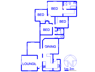Floor plan of the property in Jukskei Park