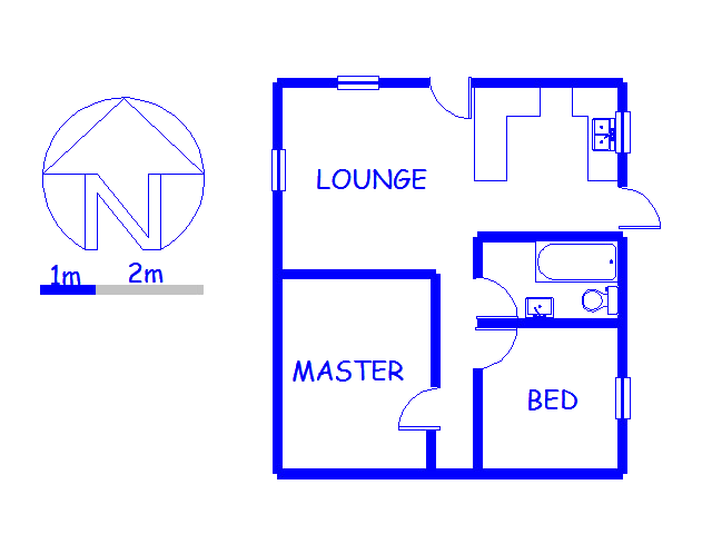 Floor plan of the property in Macassar
