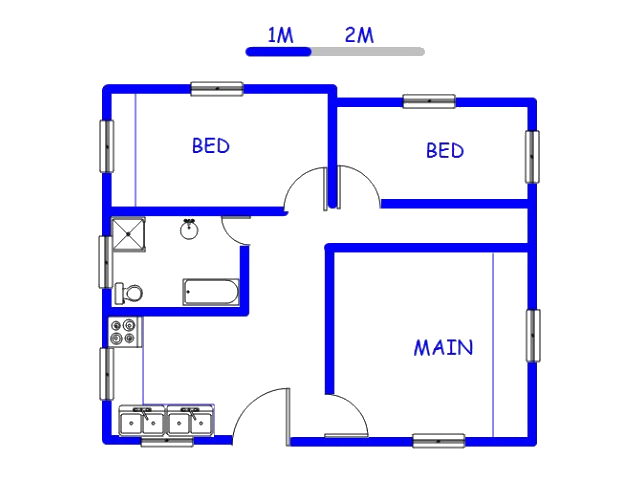 Floor plan of the property in Andeon